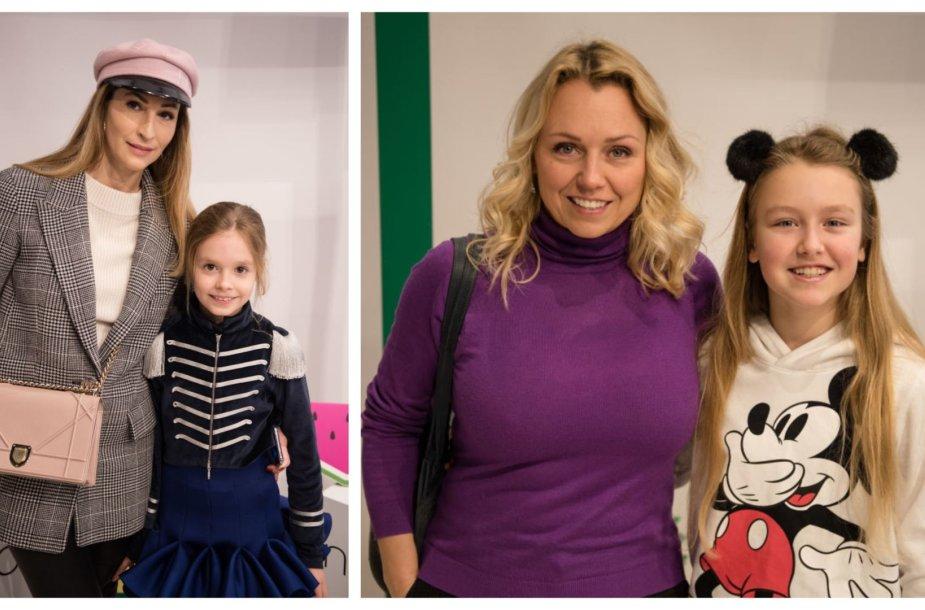 Daina Bosas su Urte Magdalena ir Violeta Tarasovienė su Gabriele