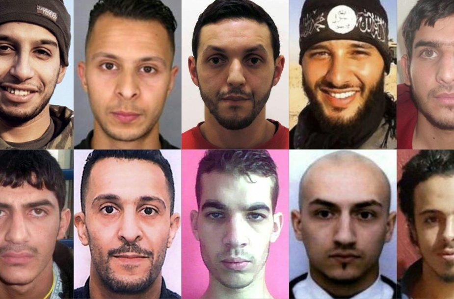 Paryžiaus teroro aktų įtariamieji