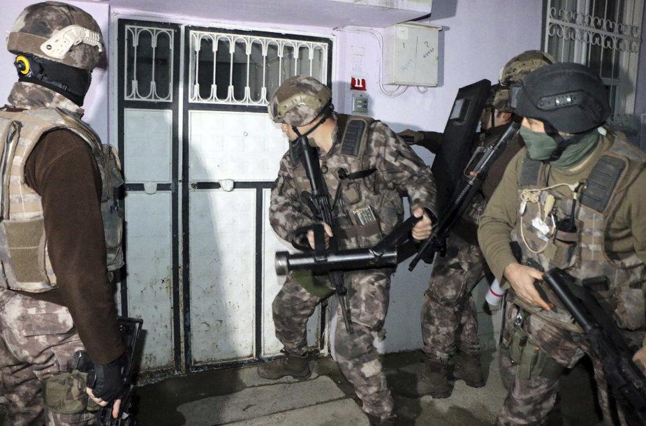 Turkijos antiteroristinės policijos operacija
