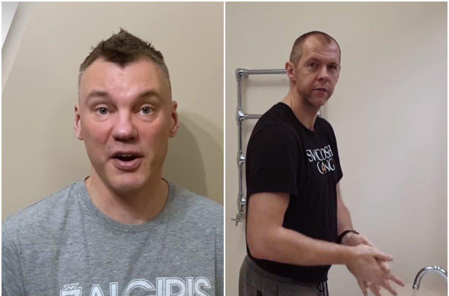 Šarūnas Jasikevičius ir Ramūnas Šiškauskas