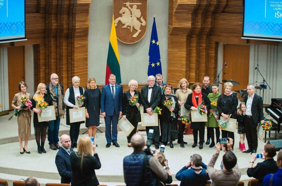 Vyriausybės kultūros ir meno premijų laureatų pagerbimo ceremonija