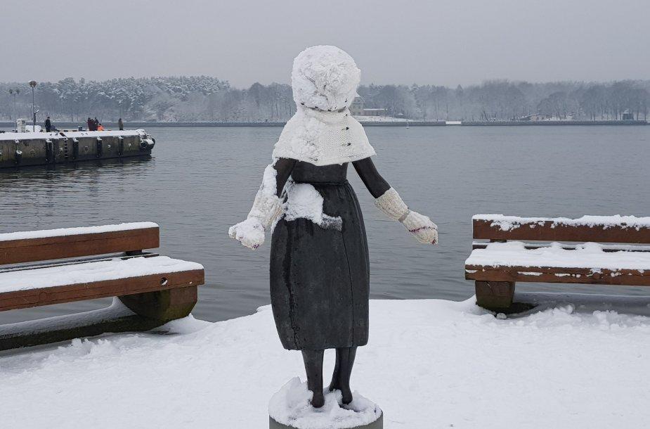 Žiemiškai padabinta Klaipėda