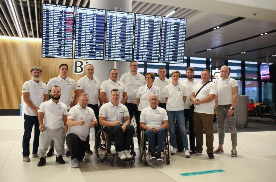 Lietuvos komanda išvyko į lengvosios atletikos čempionatą.