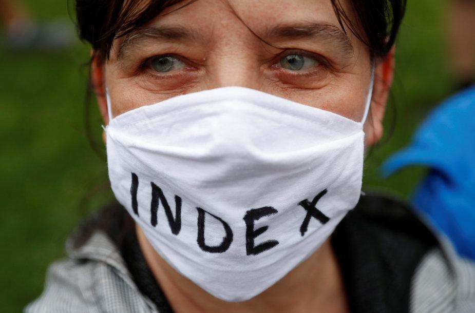 Protestas prieš žiniasklaidos laisvės ribojimus Vengrijoje