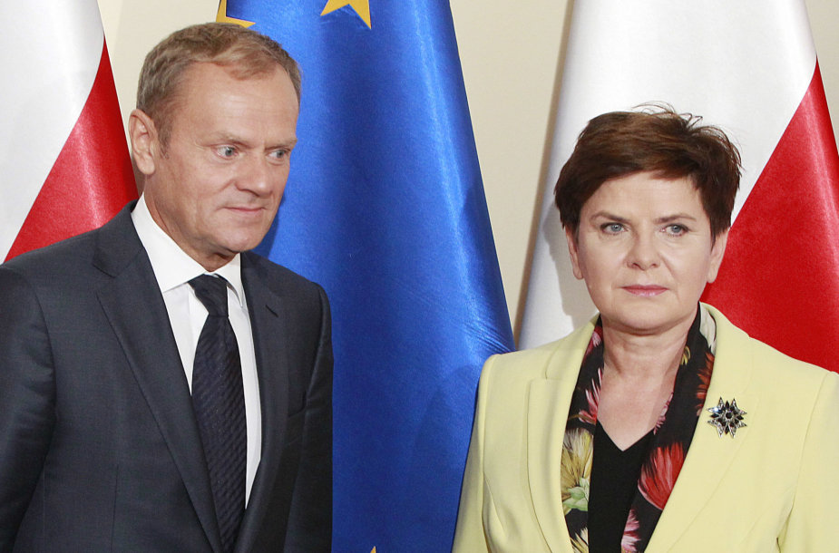 Donaldas Tuskas ir Beata Szydlo