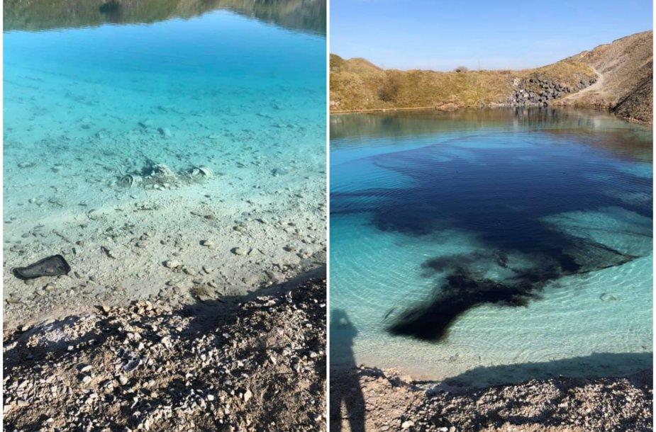 Policija Anglijoje populiaraus ežero vandenį nudažė juodai, kad atbaidytų lankytojus