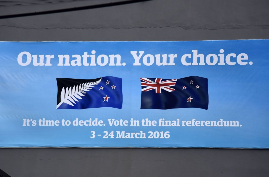Naujoji Zelandija referendume balsuoja dėl šalies vėliavos