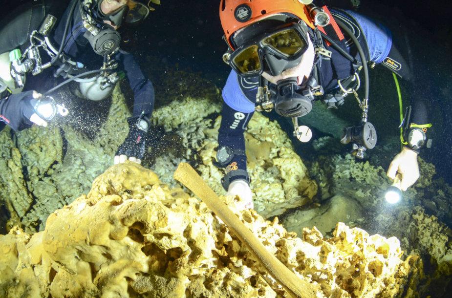 Archeologiniai tyrimai Meksikos povandeniniame urve