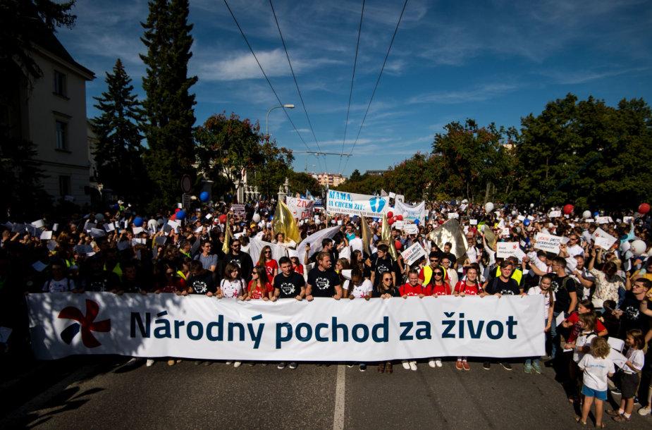 Abortų priešininkų protestas Slovakijoje