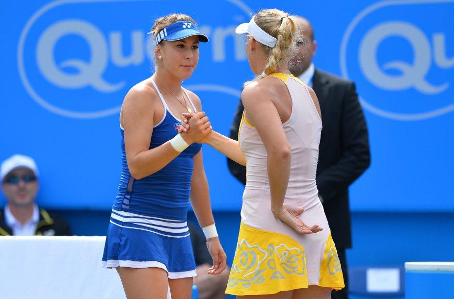 Belinda Benčič ir Caroline Wozniacki