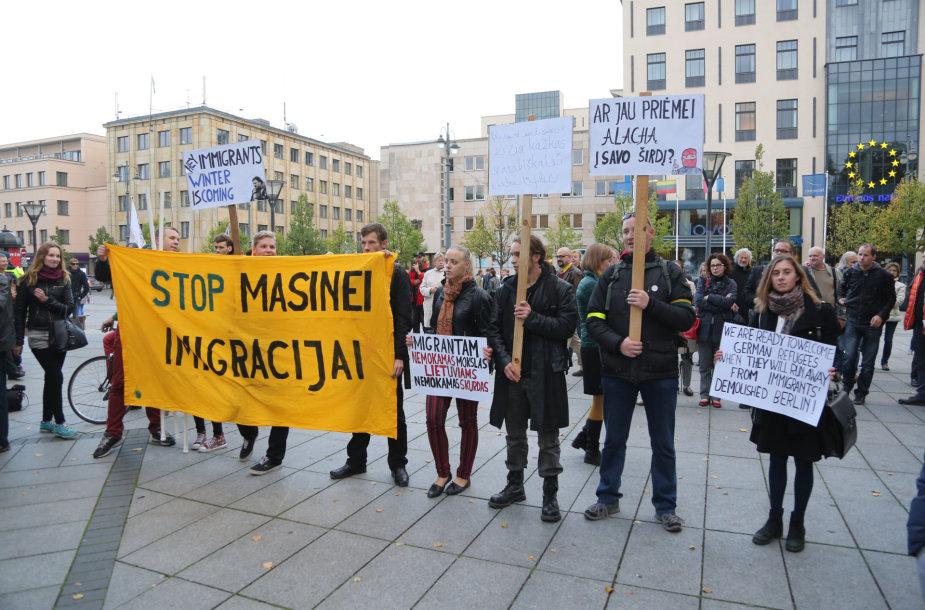 Protestas pries imigraciją Vilniuje