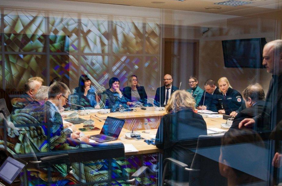 Socialdemokratų frakcijos posėdis apie smurtą prieš vaikus