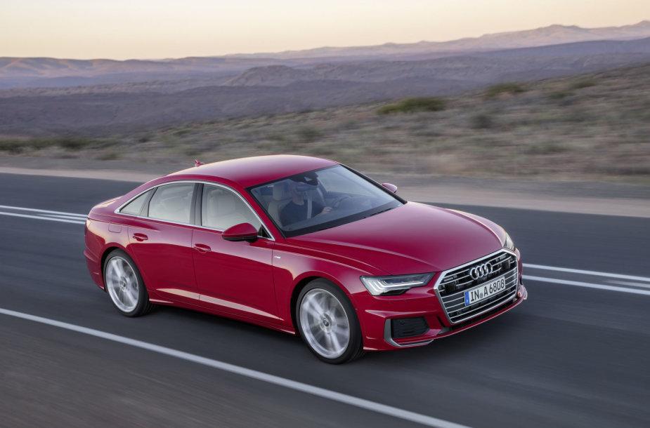 """""""Audi"""" suskubo – naują A6 pristatė dar prieš Ženevos parodą"""
