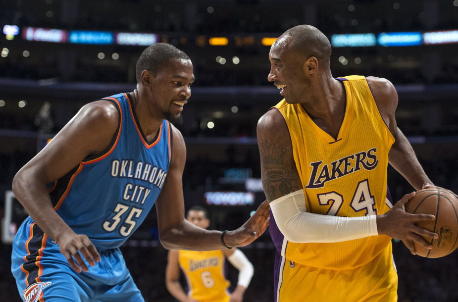 Kevinas Durantas ir Kobe Bryantas