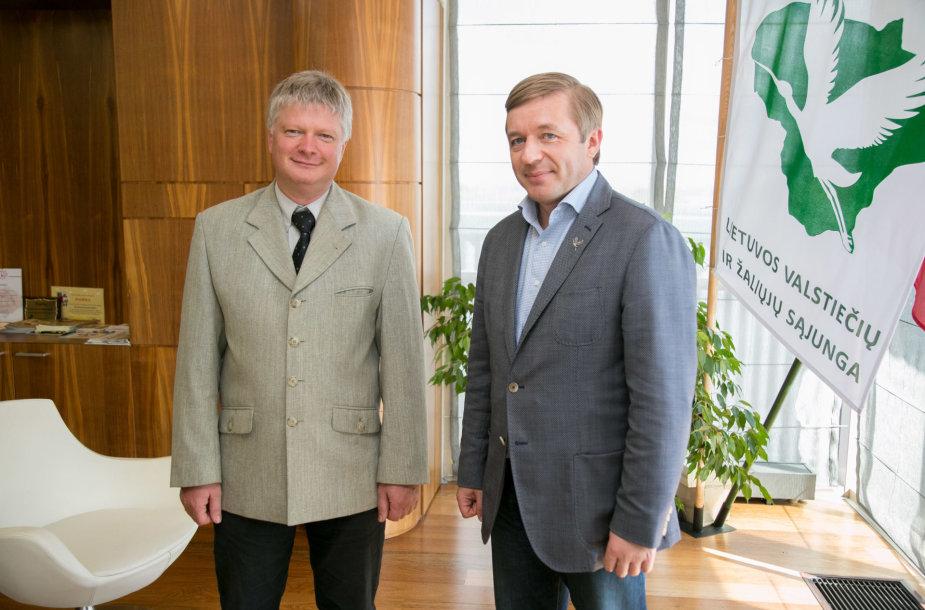 Kęstutis Navickas ir Ramūnas Karbauskis
