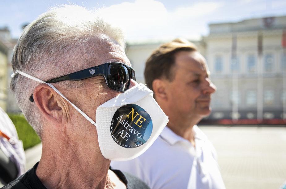 Protestas prie prezidentūros dėl Astravo atominės elektrinės