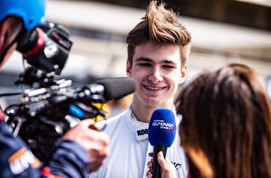 Gustas Grinbergas Europos Le Mano lenktynių serijoje