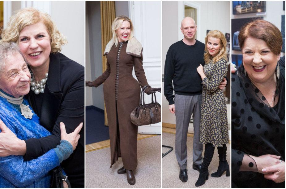 Regina Varnaitė su Nijole Narmontaite, Audronė Bunikienė, Rūta Mikelkevičiūtė su vyru, Larisa Kalpokaitė