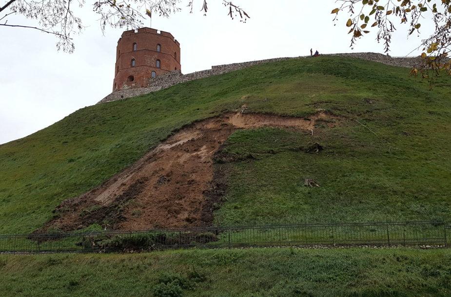1,2 m gylio Gedimino kalno nuošliauža