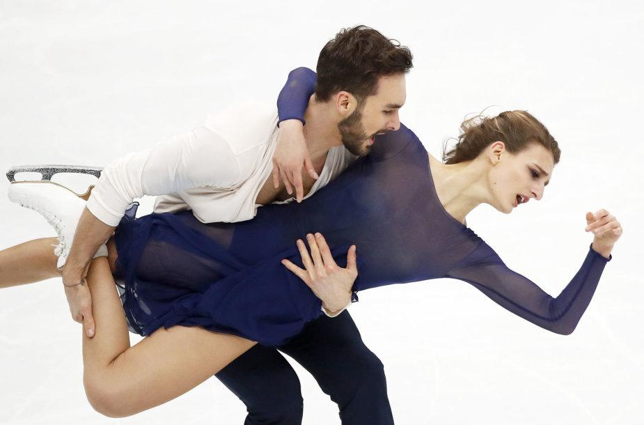 Gabriella Papadakis and Guillaume'as Cizeronas tapo Europos šokių ant ledo čempionais