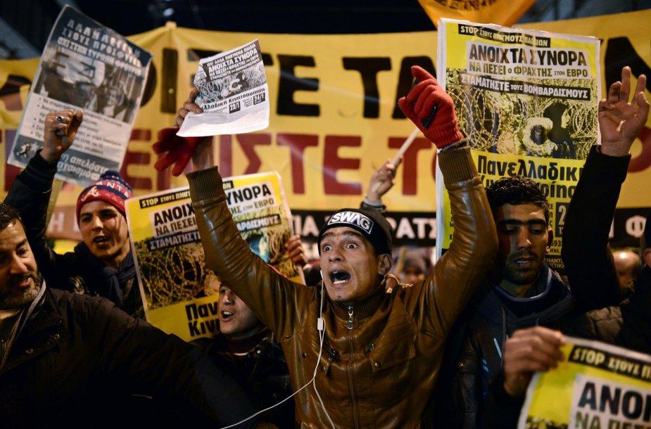 Demonstracija Atėnuose