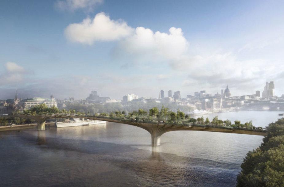 Londone planuota statyti tiltą-sodą