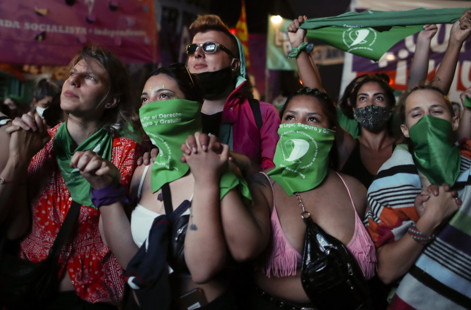 Legalių abortų šalininkai Argentinoje