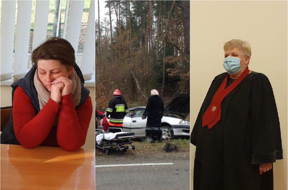 Pirmosios instancijos teismas nurodė prokuratūrai ištirti, ar už šią avariją nėra atsakingas kitas vairuotojas, tačiau prokurorė (dešinėje) naudojasi teise pasitikrinti, ar pagrįstai išteisinta J.Jankauskienė.