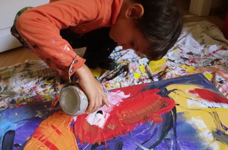 Talentingi vaikai. Luko tapyba