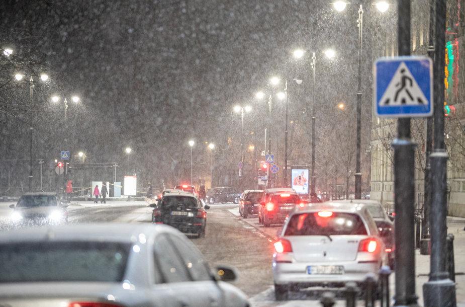 Stiprus snygis Vilniuje
