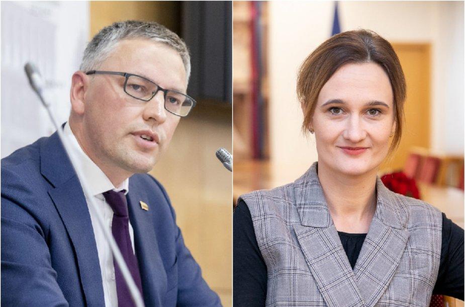 Vytautas Bakas ir Viktorija Čmilytė-Nielsen