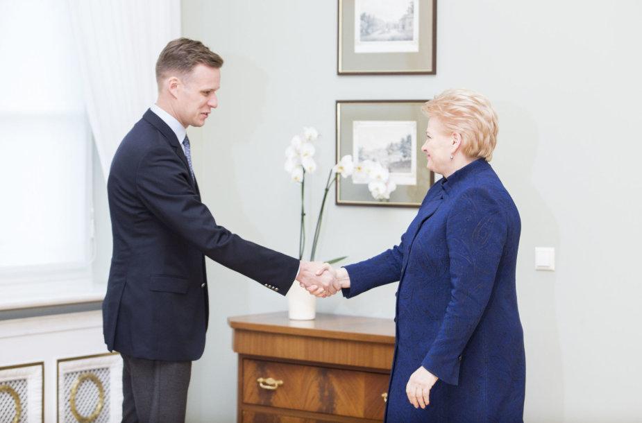 Gabrielius Landsbergis ir Dalia Grybauskaitė