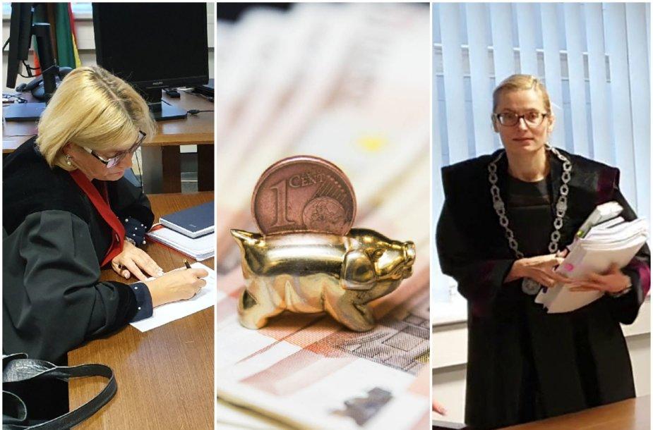 Prokurorė J.Karčinskienė (kairėje) jokio kaltinamojo akto broko neįžvelgia, tad pamatinį bylos dokumentą ryžosi įvertinti teisėja