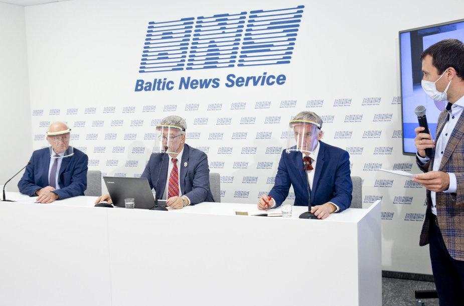 Partijos Kartų solidarumo sąjunga-Santalka Lietuvai priešrinkiminė spaudos konferencija