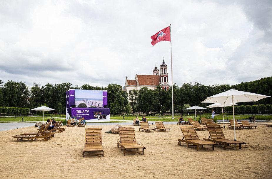 Paplūdimio atidarymas Lukiškių aikštėje