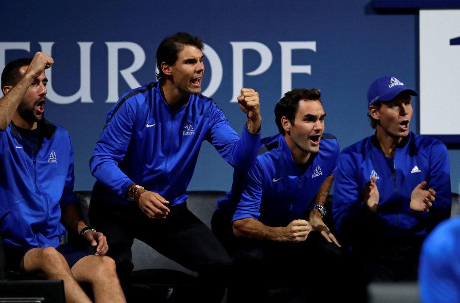 Marinas Čiličius, Rafaelis Nadalis, Rogeris Federeris ir Tomašas Berdychas