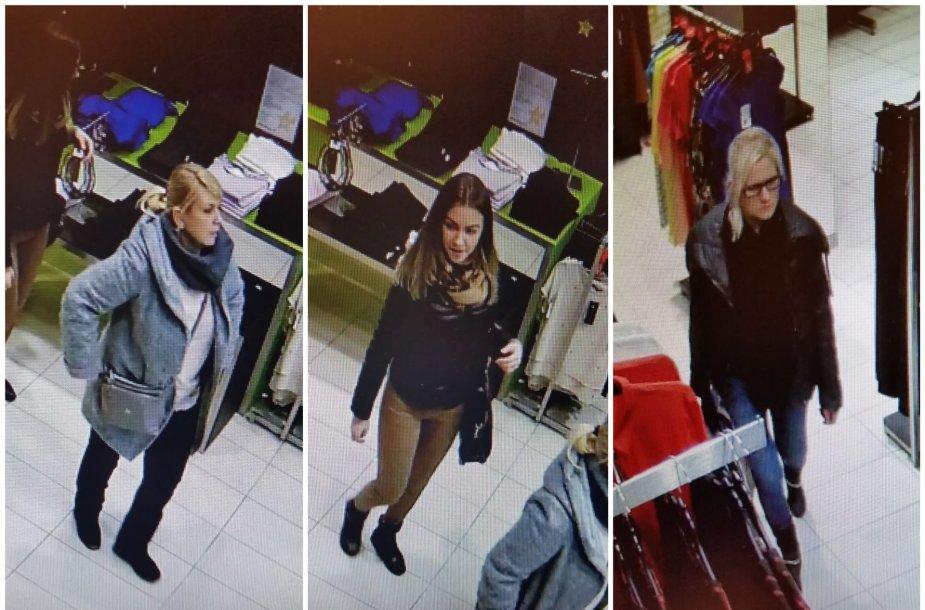 Dėl pavogtų megztinių ieškomos merginos