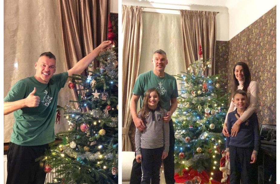 Šarūnas Jasikevičius su šeima