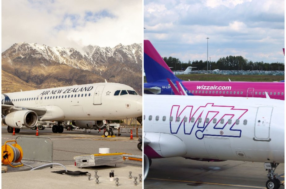 Apdovanojimai: geriausios oro linijos Air New Zealand ir geriausios žemų sąnaudų oro linijos Europoje Wizz Air