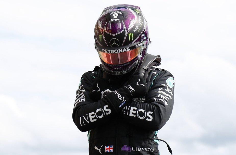 Lewisas Hamiltonas laimėjo Belgijos GP kvalifikaciją