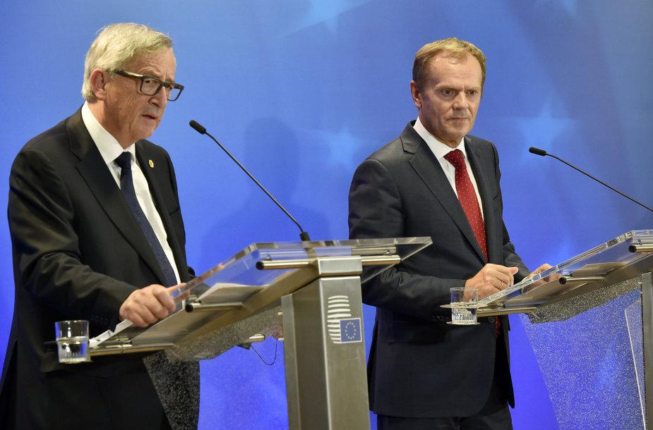 Jeanas Claude'as Junckeris ir Donaldas Tuskas