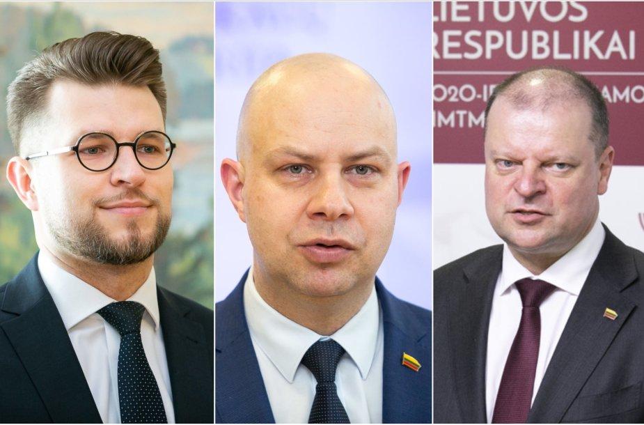 Lukas Savickas, Aurelijus Veryga, Saulius Skvernelis