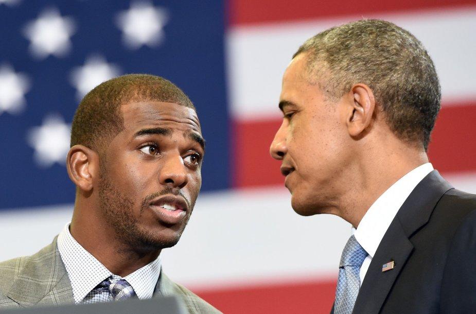 Chrisas Paulas ir Barackas Obama