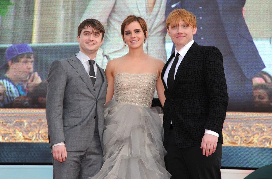 Danielis Radcliffe'as, Emma Watson, Rupertas Grintas