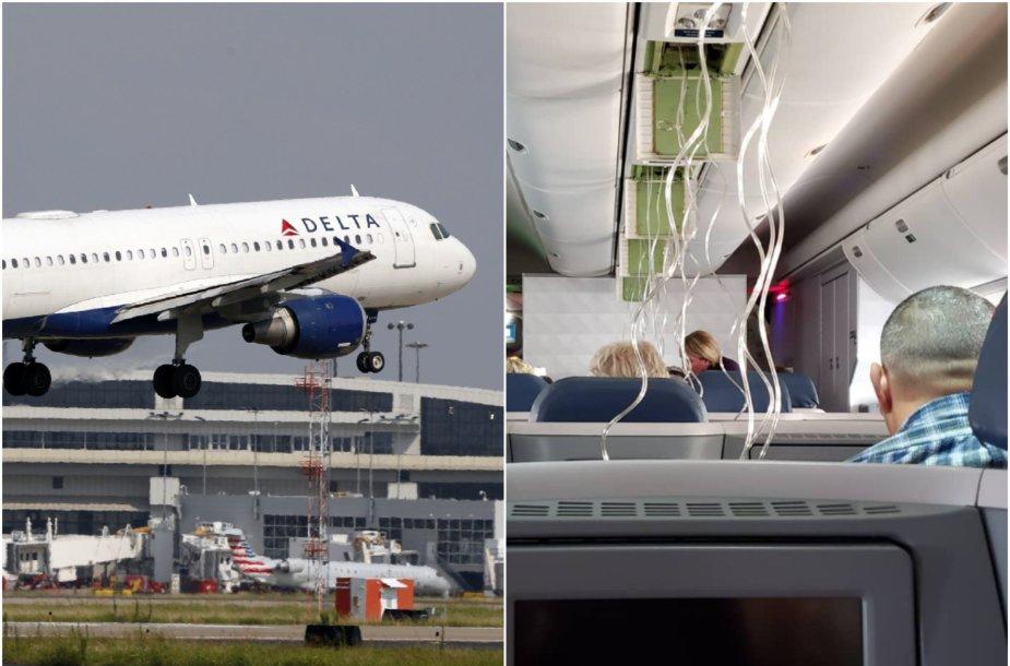 """""""Delta Air Lines"""" lėktuve"""