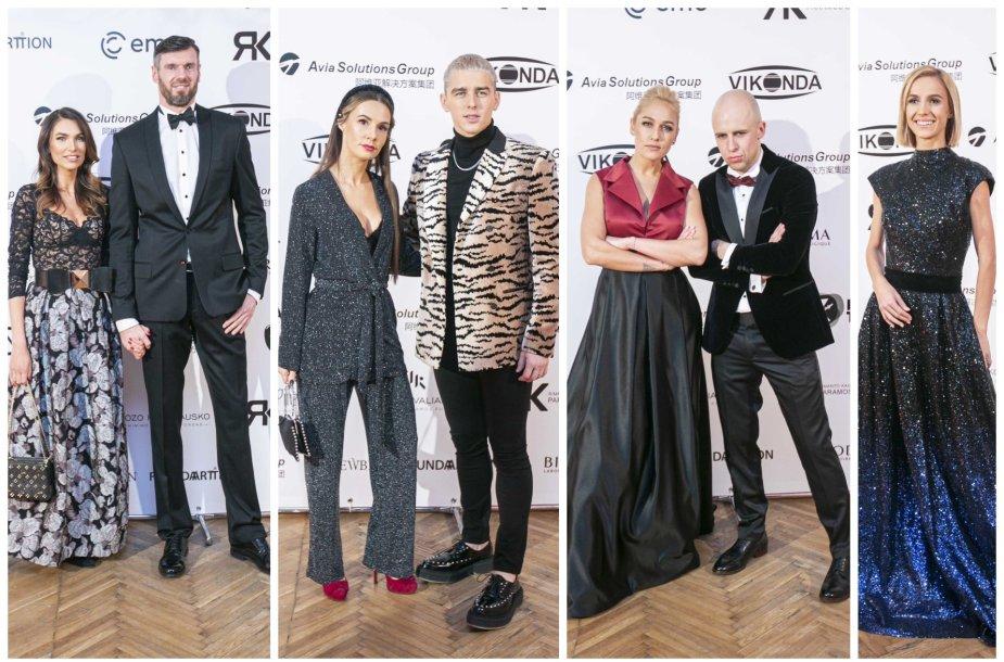 Tatjana ir Kšištofas Lavrinovičiai, Veronika ir Donatas Montvydai, Indrė Stonkuvienė, Vidas Bareikis, Indrė Kavaliauskaitė