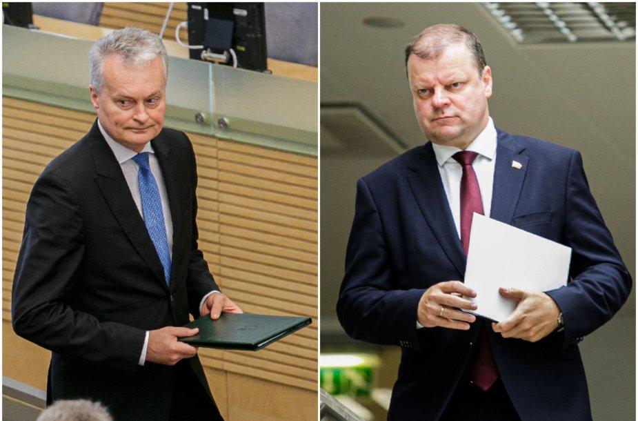 G.Nausėda ir S.Skvernelis