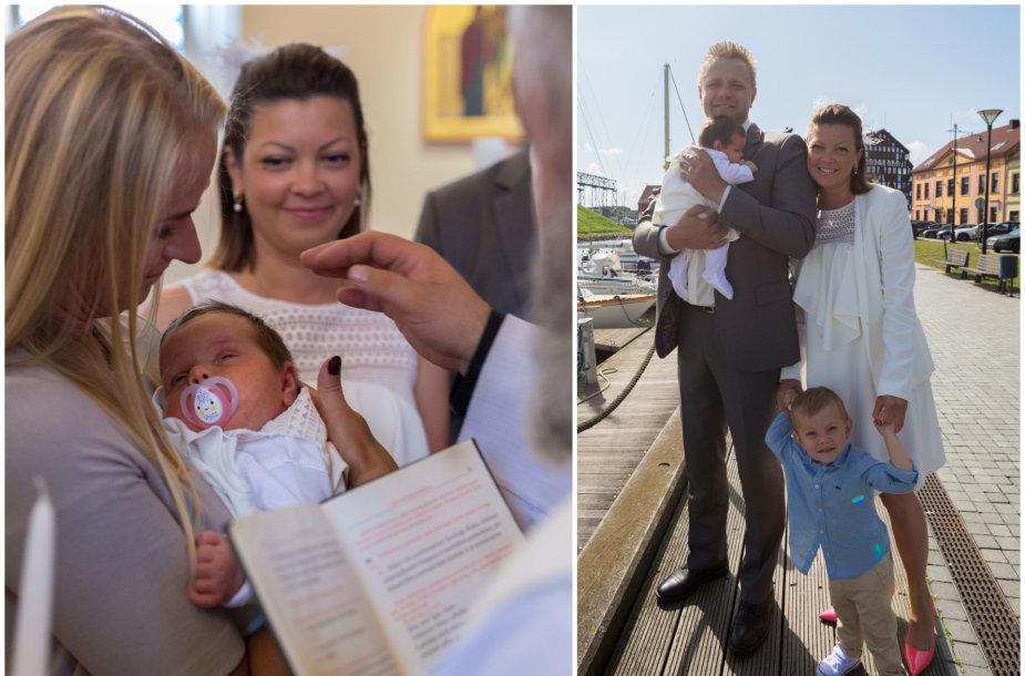Agnės Kišonaitės ir Manto Kubiliaus dukros Lilijos krikštynų akimirka