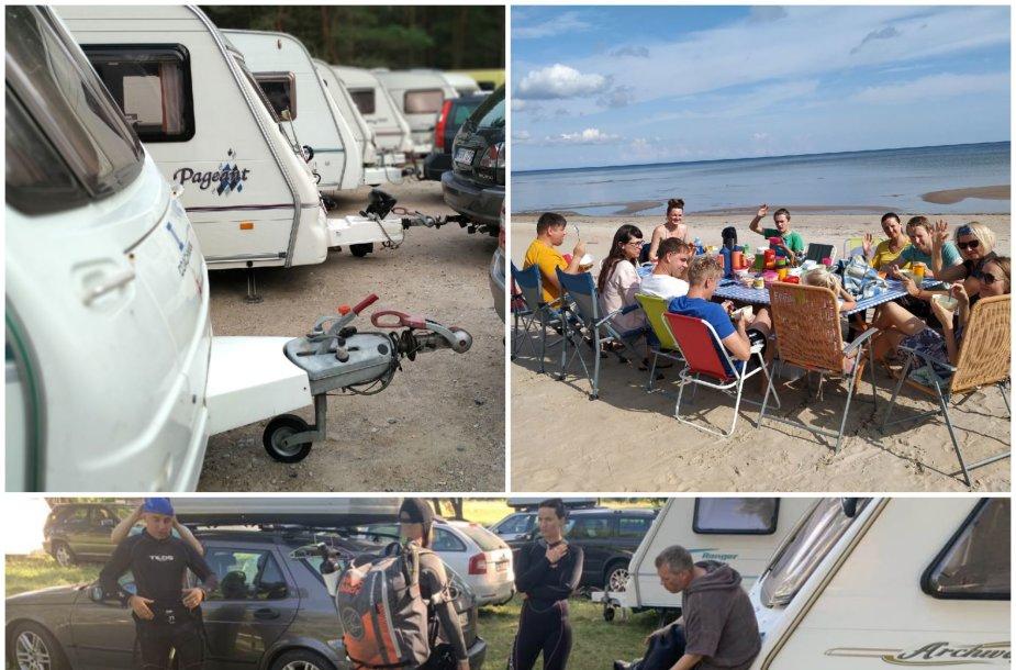 Namuose ant ratų vasarą leidžiantys lietuviai