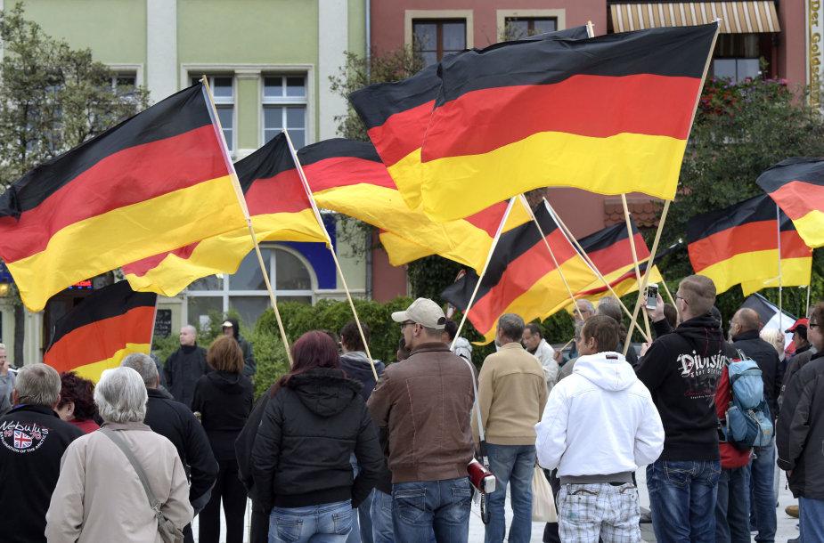 Protestas prieš migrantus Vokietijoje.